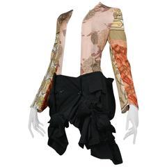 Comme des Garcons Vintage Scarf Cut Out Dress