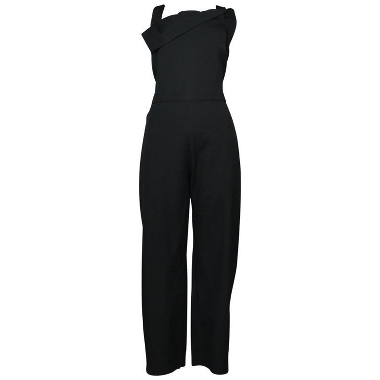 Yohji Yamamoto Black Button Side Jumpsuit