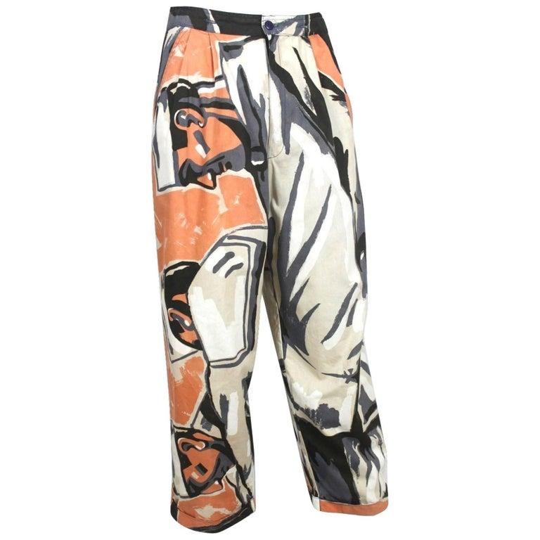 Michael Vollbracht Sports Sailor Print Pants