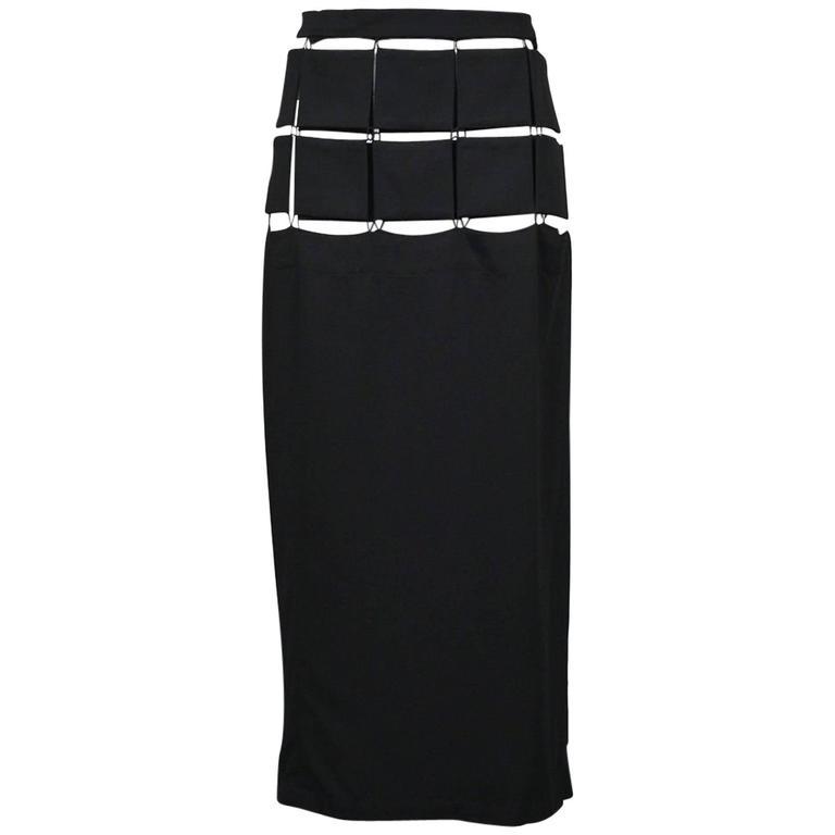 Yohji Yamamoto Black Puzzle Skirt 2004