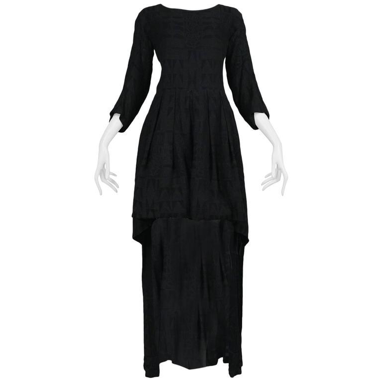 Yohji Yamamoto Black Short Long Dress