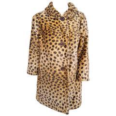 1960s Russel Taylor Leopard Print Coat