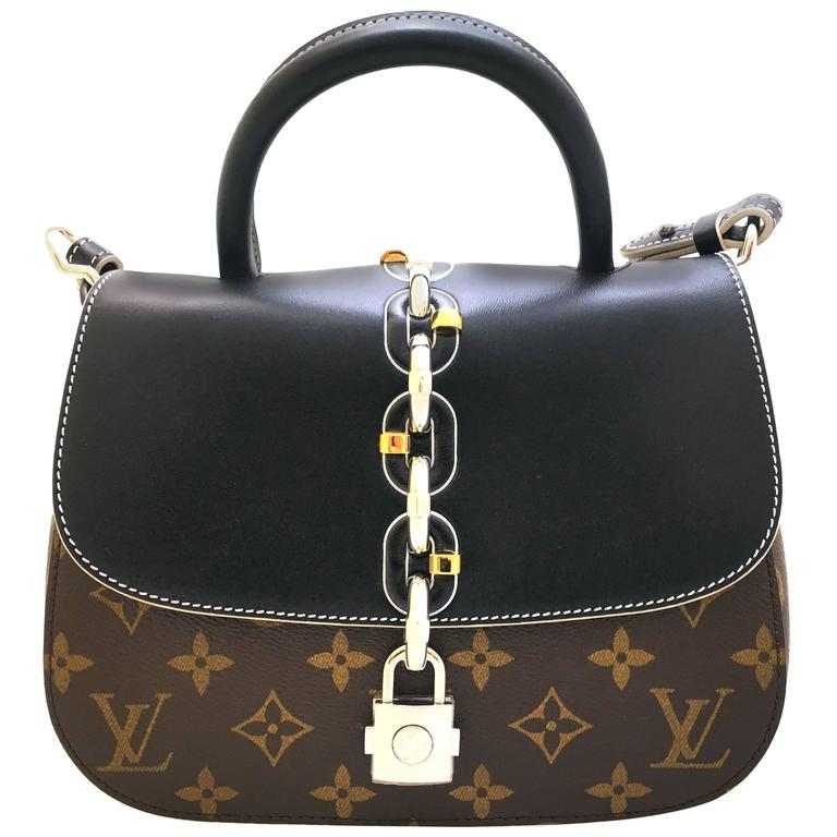 Louis Vuitton Chain It PM Black and Brown Monogram Canvas Top Handle Bag 1