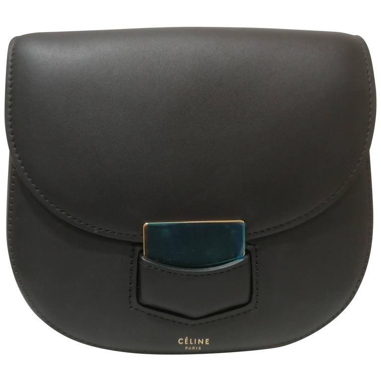 Celine Unworn Black leather shoulder bag