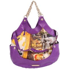 Versace & Tim Roeloffs Art Print Kiss Shopper Bag - purple 2008