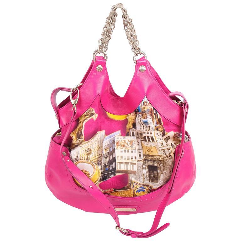 Versace & Tim Roeloffs Art Print Kiss Shopper Bag - pink