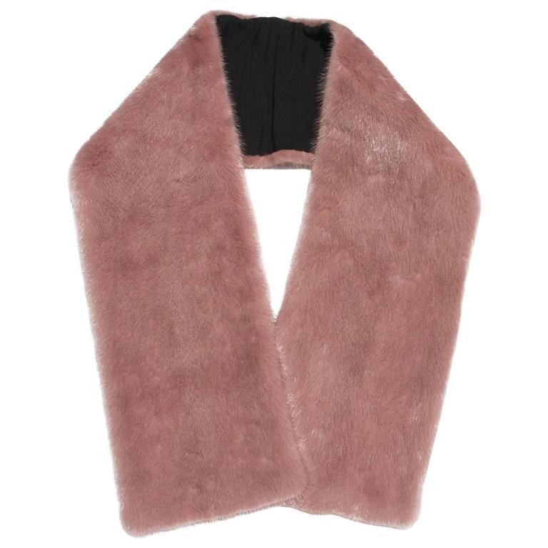 "New GUCCI $2200 MINK Blush Pink Long Stole Scarf Wrap 50"" x 7"""