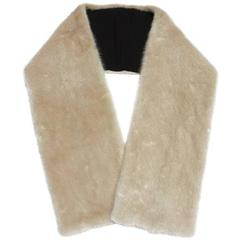 "New GUCCI $2200 MINK Classic Beige Long Stole Scarf Wrap 50"" x 7"""