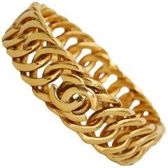 1990s Chanel Gold-tone Bracelet