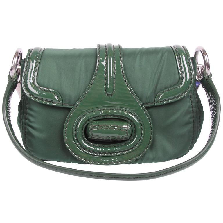 Prada Pattina Sottospalla Handbag - green