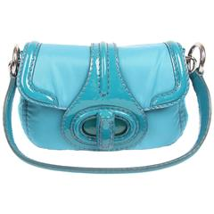 Prada Pattina Sottospalla Handbag - turquoise