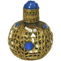 Czech Gilt and Pate de Verre Mini Scent Bottle
