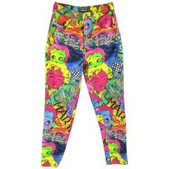 GIANNI VERSACE Jeans COUTURE 6 Multi-Color Marilyn Monroe and Betty Boop Jeans