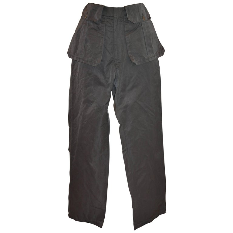 Yohji Yamamoto Steel Gray & Multi-Pocket Apron Trouser