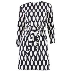 1965 Marimekko Black & White Printed Dress