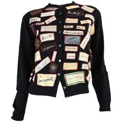 1960's One of a Kind Appliqued Label Sweater