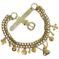 1990's Escada Gold-Toned Charm Belt