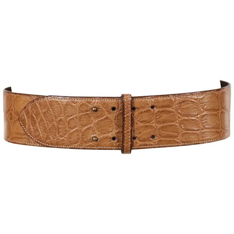 1984 AZZEDINE ALAIA alligator leather belt 1