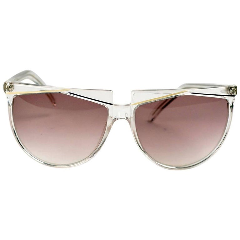 Verses (Versace) Clear Frame Sunglasses For Sale
