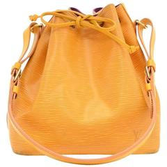 Louis Vuitton Petit Noe Yellow Epi Leather Shoulder Bag