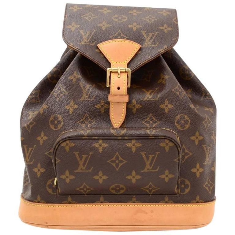Louis Vuitton Moyen Montsouris MM Monogram Canvas Backpack Bag 1