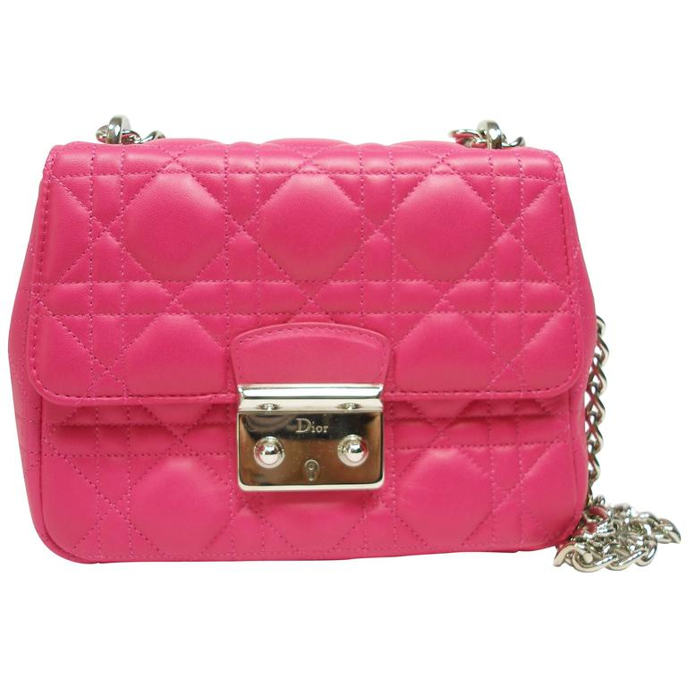 Dior Miss Bag Pink Cannage Leather Small Size Brand New For