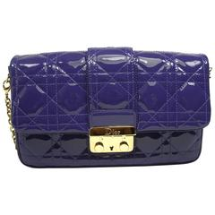 DIOR NEW LOCK Pouch in Violet patent leather and gold Hadware / BRAND NEW
