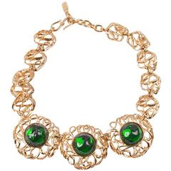 Yves Saint Laurent Glass 80s Necklace