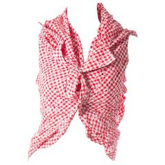 Comme Des Garcons Draped Red Gingham Junya Watanabe Top AD2008
