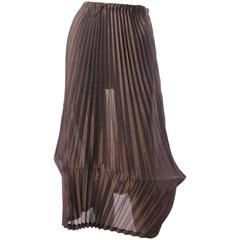 Issey Miyake White Label Pleated Lantern Skirt