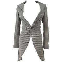 Junya Watanabe Houndstooth Deconstructed Tail Coat 2000's