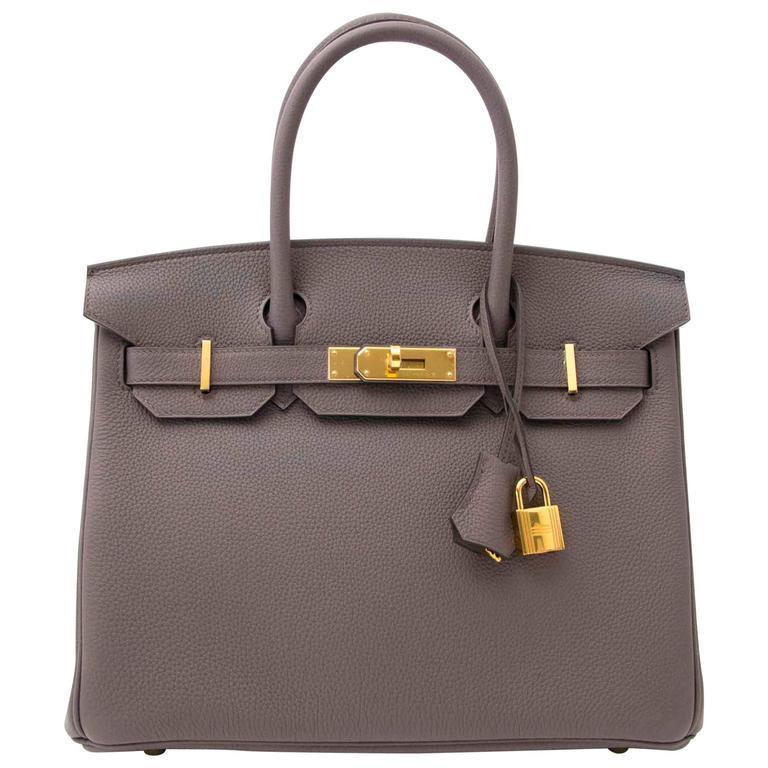 e23c72ebdf Hermès Birkin 30 Togo Etain GHW For Sale at 1stdibs