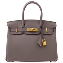 Hermès Birkin 30 Togo Etain GHW