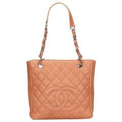 Chanel Pink Caviar Grand Shopping Shoulder Tote Bag