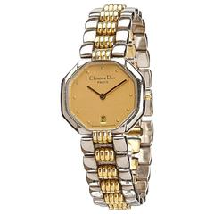 Christian Dior Diamond Studded Gold Toned Watch