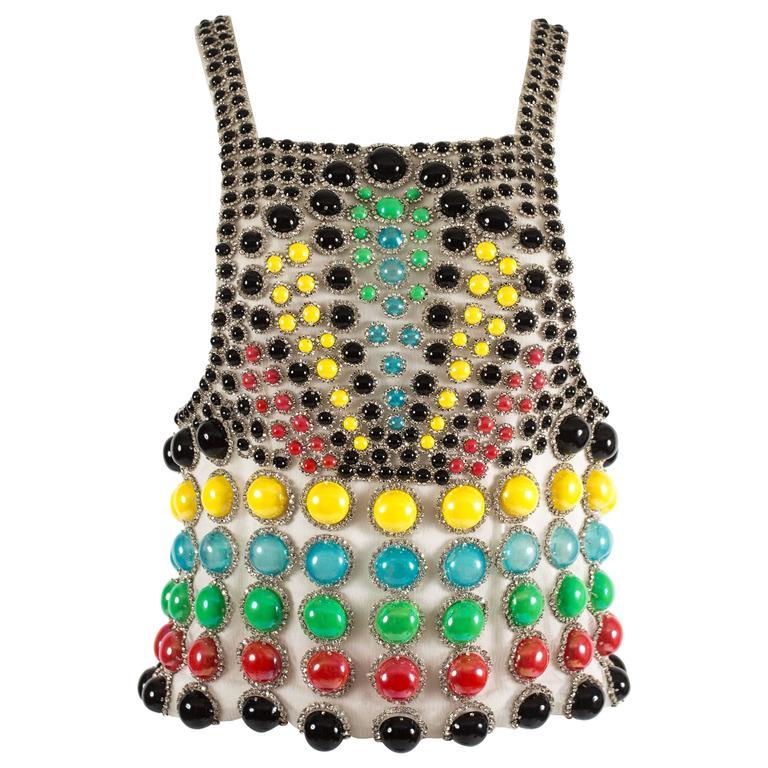 Jeanne Lanvin Spring-Summer 1968 Haute Couture embellished evening vest 1