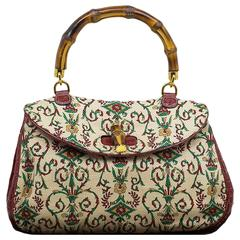 Limited Edition Gucci Heritage Collection Rinascimento Exotic Crocodile Bag