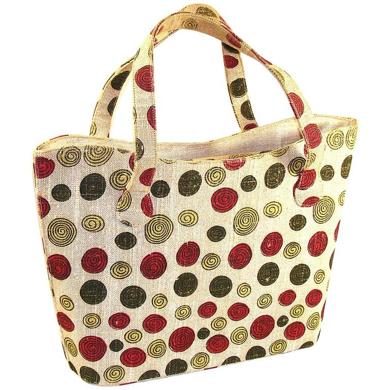 1stdibs Rare & Oversized Purse Tote 1950s Sophisticated Whimsy For Summer k3jSC6UbD