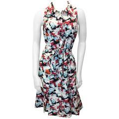 Carolina Herrera Abstract Printed Day Dress