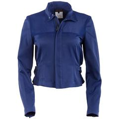 1980's Matsuda Cobalt Blue Fitted Moto Jacket