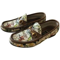 "Gucci Iconic ""Flora"" Men's Bridal Bit Loafers"