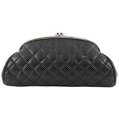 Chanel Timeless Clutch Quilted Perforated Leather