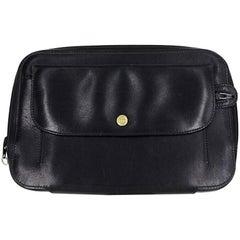 Gucci Black Leather Zipper Man Bag