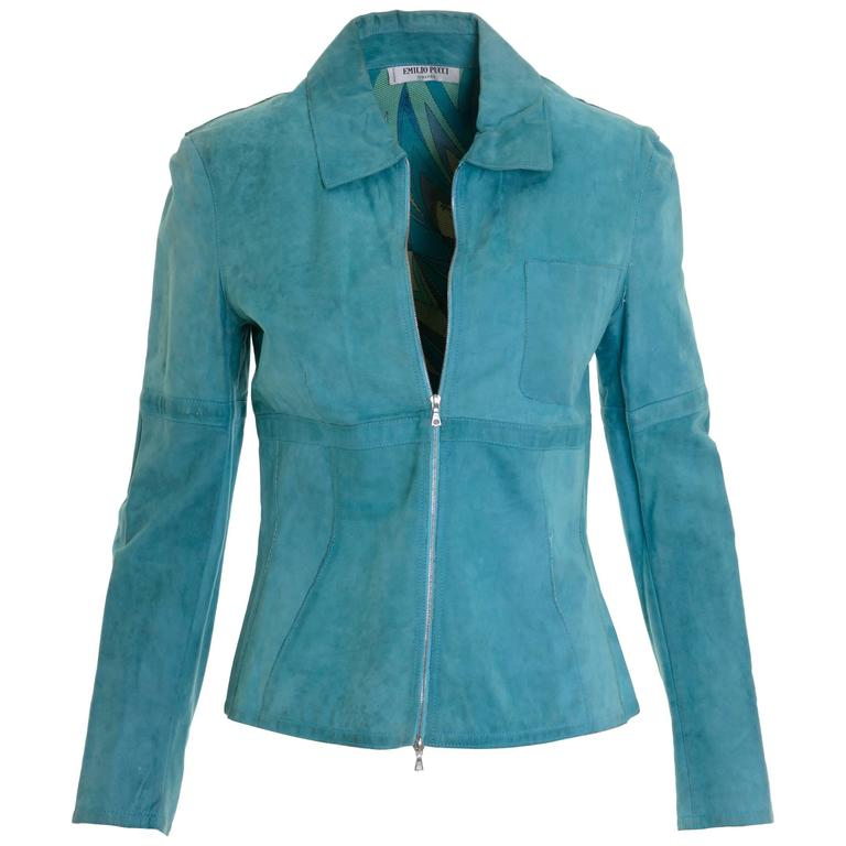 EMILIO PUCCI Suede Leather Jacket