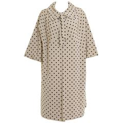 1950s Polka Dot Tent Overcoat