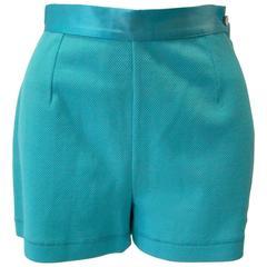 Gianfranco Ferre Turquoise Shorts