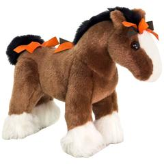 Hermes Hermy The Horse Small Brown Plush Toy Stuffed Animal