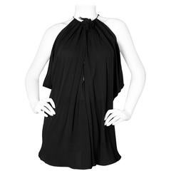 Derek Lam Black Silk Sleeveless Draped Blouse sz US4
