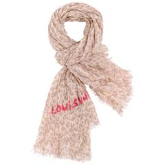 LOUIS VUITTON STEPHEN SPROUSE Cashmere Silk Leopard Graffiti Print Wrap Scarf