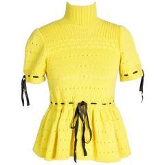 Jean Paul Gaultier Yellow Wool Sweater, Fall 2003